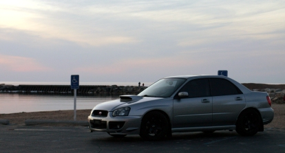 WRX just after sundown